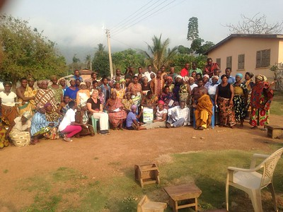 Community conservation meeting in the Saviefe-Gbogame community, Ghana by Simone Lovera