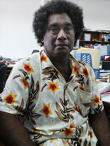 Mr James Iroga, Fera Sabua Community Elder