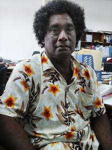 Mr James Iroga, Fera Sabua Community Elder