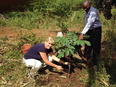 Tree planting in Kahe community forest
