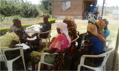 Women's meeting, CCRI in Tanzania