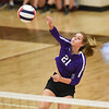 CCS's Victoria Gray spikes the ball during the Royals' match against Oklahoma Christian School, Saturday, Oct. 10, 2020, at Blanchard High School. (Kyle Phillips / The Transcript)