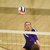 CCS's Landry Braziel sets the ball during the Royals' match against Oklahoma Christian School, Saturday, Oct. 10, 2020, at Blanchard High School. (Kyle Phillips / The Transcript)