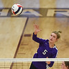 CCS's Landry Braziel spikes the ball during the Royals' match against Oklahoma Christian School, Saturday, Oct. 10, 2020, at Blanchard High School. (Kyle Phillips / The Transcript)
