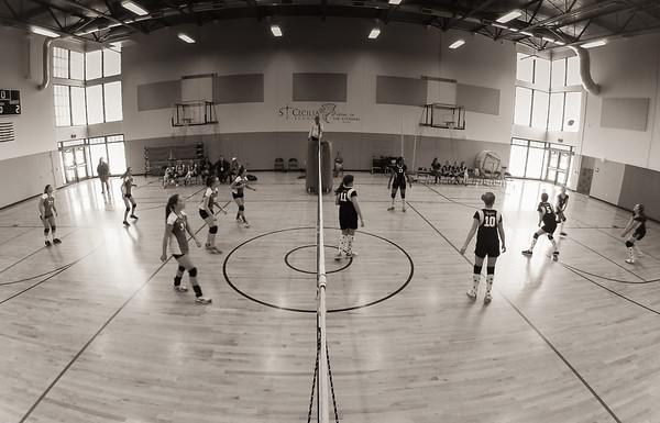Volleyball, Jr. High - October (B&W)