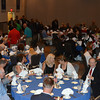 Attendees of the 2014 Cambria County Sports Hall of Fame banquet find their seats at the Pasquerilla Conference Center.