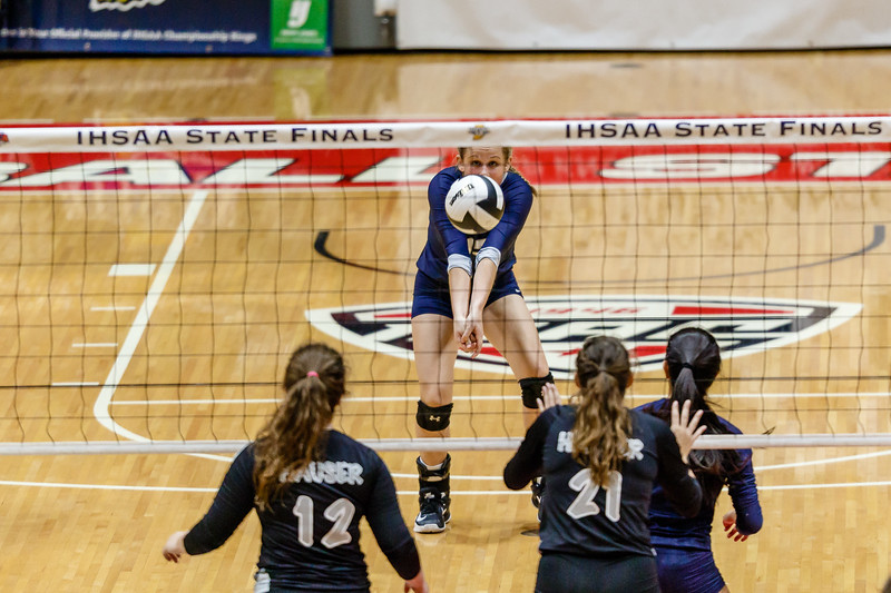 State Championship CC Varsity Volleyball vs Hauser