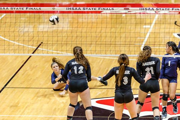 State Championship CC Varsity Volleyball vs Hauser