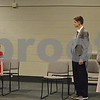 "Children's Community Theatre will open the musical ""Annie Jr."" this weekend at the Egyptian Theatre in DeKalb. Pictured (from left) during rehearsal are 12-year-old Molly Johnson of Genoa as Annie, 14-year-old Jack Piazza as Daddy Warbucks and 12-year-old Kaitlyn Bowman of Sycamore as Grace Farrell."