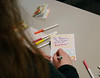 HOLLY PELCZYNSKI - BENNINGTON BANNER Letters of kindness and inspiration. Teachers, staff and faculty at CCV write letters and cards during a Love Letters letter-writing party.