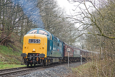 D9009 'Alycidon' approaches Summerseat at the head of the 10.35 Heywood - Rawtenstall train on 13/04/18