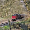 10.15 Rawtenstall - Heywood train eases towards Summerseat Crossing on the ELR. 9th April 2017.