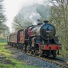 Ex LMS 2-6-0 'Crab' 13065 slows for Summerseat Station whilst working the 09.30 Bury - Rawtenstall train on 9th April 2017.