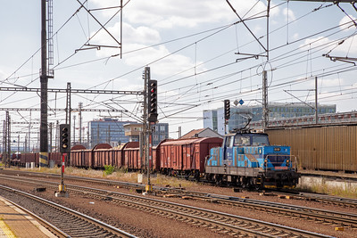 Class 111 021-2 was the yard shunter at Praha Liben on the afternoon of 10th July 2019.  What a busy loco it was during the couple of hours I spent there, drawing  stock from different roads up to the top of the hump then fly shunting them back to their destination road in the yard.  Lovely stuff!
