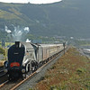 60009 charges through Penmaenmawr with the returning 'North Wales Coat Express' to Liverpool on 10th August 2008. This is one of my favourite pictures, but is tinged with the memory that an air pump malfunction caused the loco to be declared a failure at Llandudno Junction a short time later.  This was the 2nd time in just over one month that she failed after I pointed the Sony R1  at her beautiful curves!