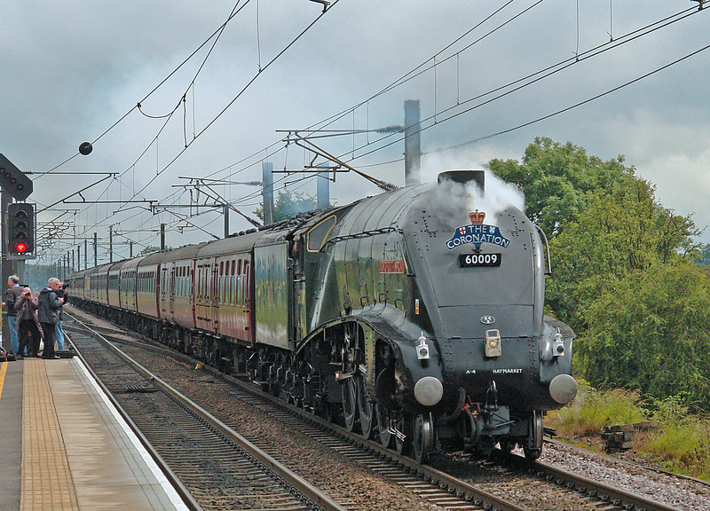 60009 in full cry on the ECML at Northallerton whilst working the down 'Coronation' of 5th July 2008.  Sadly, less than one hour later she was taken off the train in Tyne Yard with a hot bearing and declared a failure.