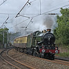 5043 'Earl of Mount Edgcumbe' tears through Lancaster whilst returning to Tyseley from Carlisle after conquering Shap in spectacular style on 20th June 2010.