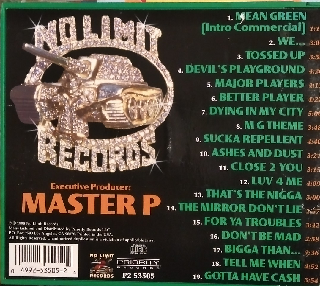 Various - No Limit Records Presents Mean Green Back Cover
