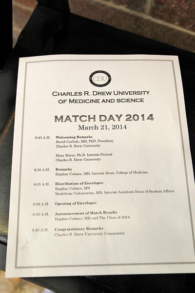 Match Day Charles Drew Univ.