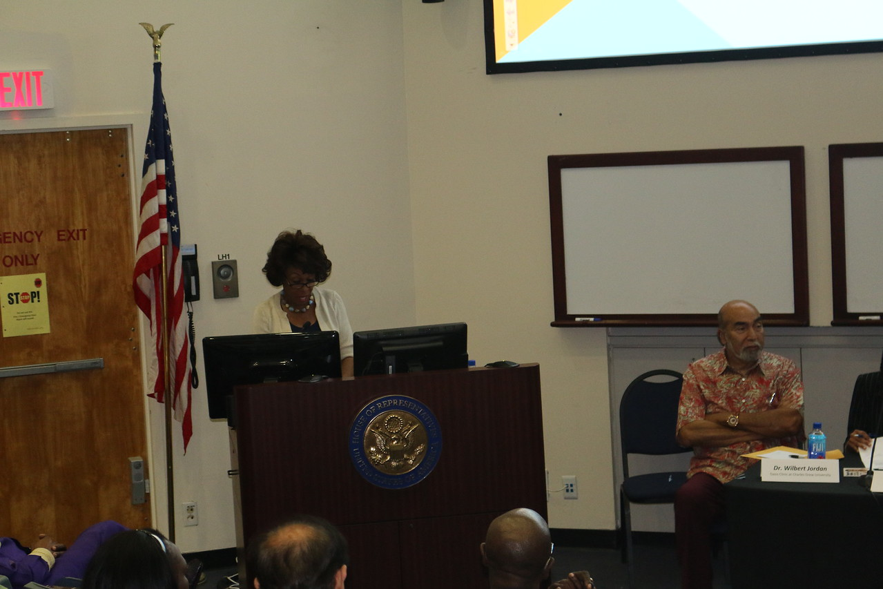 Congresswoman Waters and Dr. Wilbert Jordan, CDU's  leading expert on HIV/AIDS