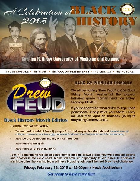 Drew Feud  was held 2-13-2015