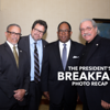 From left: Charles R. Drew University of Medicine and Science (CDU) President and CEO Dr. David M. Carlisle, Actor Rick Najera, L.A. County Supervisor Mark Ridley Thomas,2nd District and keynote speaker and activist/actor:  Edward James Olmos.