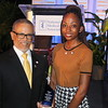 President and CEO Dr. David M. Carlisle is with Ebony King, 4th year CDU Medical Student