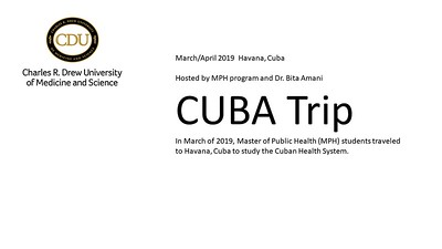 The MPH Program takes its 2nd Trip to Cuba in 2019