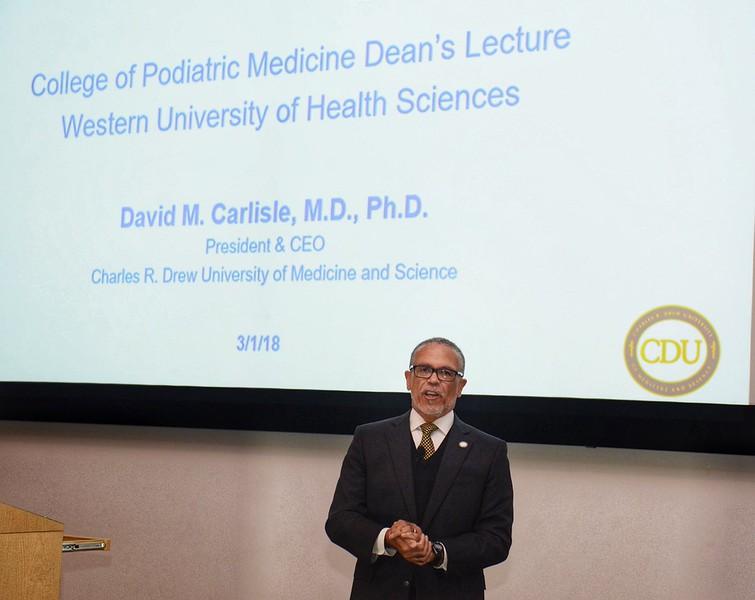 CDU President and CEO Dr. David M. Carlisle