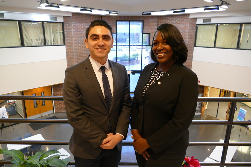 2018 CDUSG Leadership (R) President Shenita Anderson and (L) Vice President Daniel Maryanov