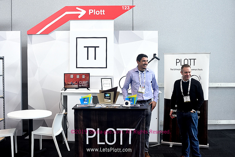 A photo of the Plott booth at CE Week