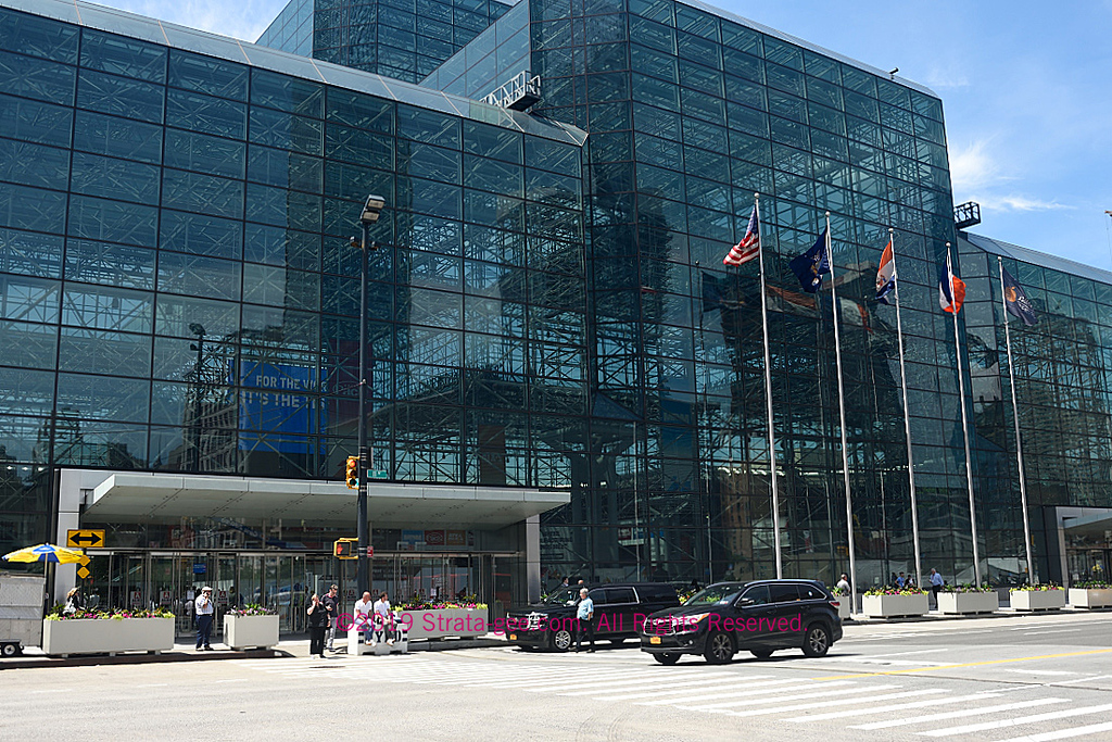 The entrance to the Jacob Javits center in midtown New York City, NY, site of CE Week