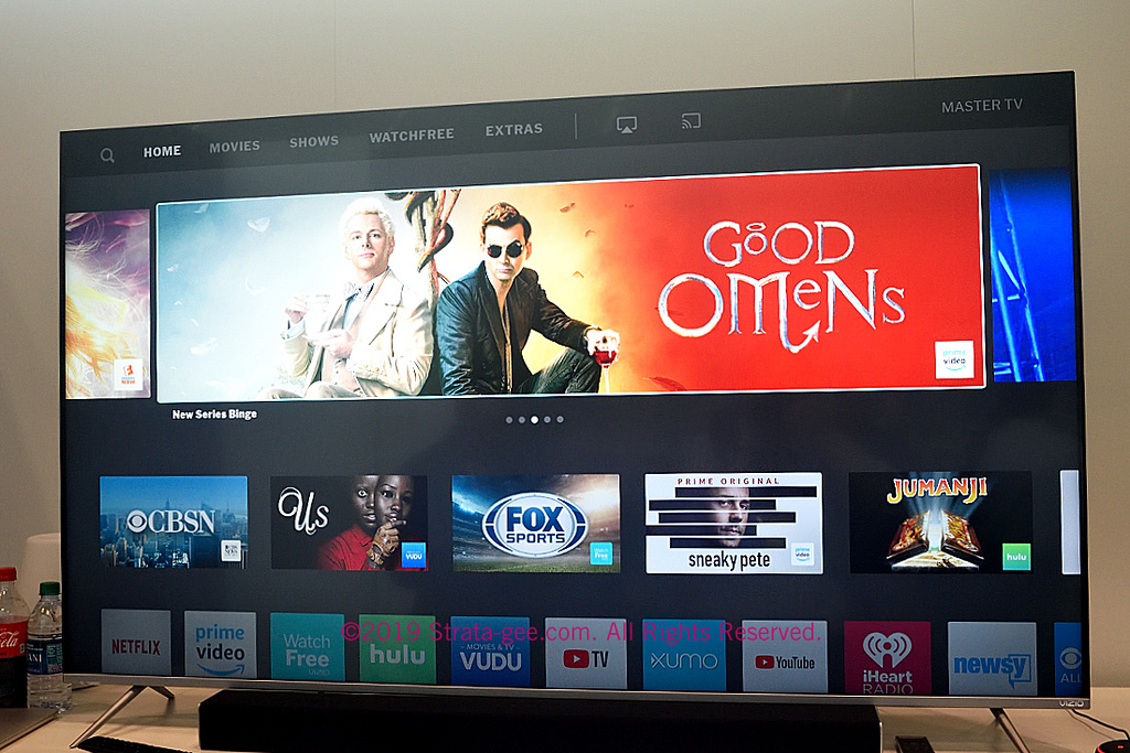 Vizio's new user interface shown at CE Week last month