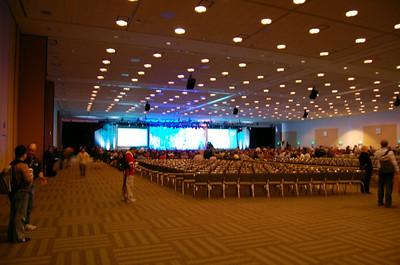 Main Hall - Lights On  The main presentation hall.