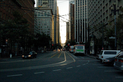 The Streets (1)  The Streets of San Francisco. Trams, car and hills.  Lots of hills.