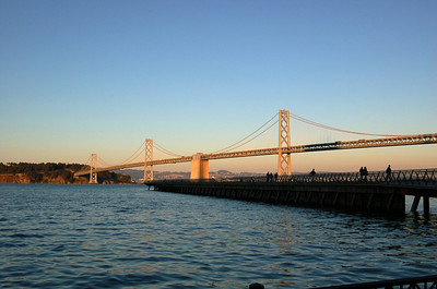 Bay Bridge (2)  A closer view of Bay Bridge from the water's edge.