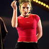 Jennifer Lopez rehearsing at the 2001 American Music Awards