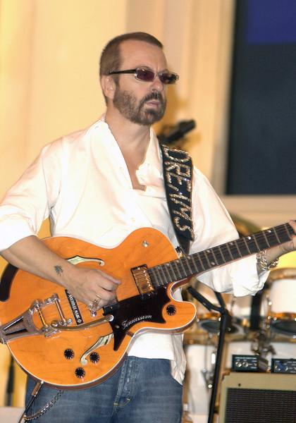"Dave Stewart rehearsing for ""Come Together - A Night of John Lennon"""