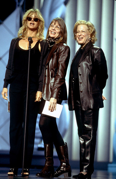 Goldie Hawn, Diane Keaton & Bette Middler rehearsing at the 69th annual Academy Awards as presenters for the Best Achievement in Music Oscar