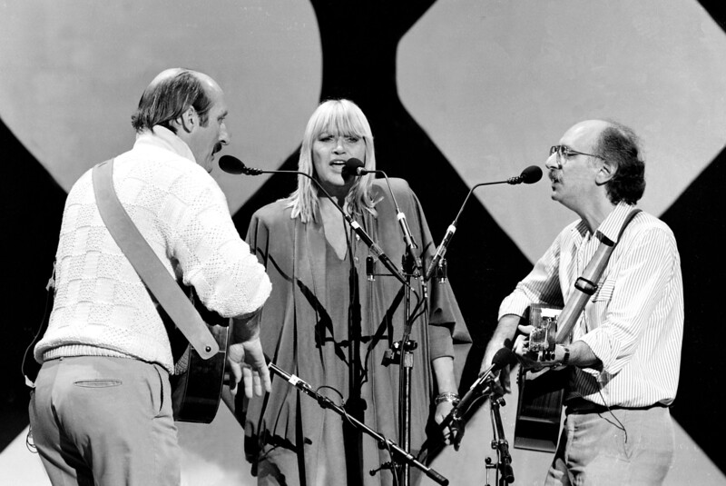 """Peter, Paul & Mary perfoming on the TV Show """"Solid Gold""""."""