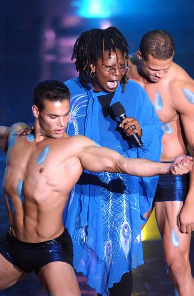 "Whoopi Goldberg performing ""It's Raining Men"" on  the TV Show ""The Disco Ball"""