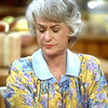 "Bea Arthur on the set of the ""Golden Girls""."