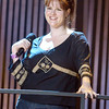 "Sara Rue rehearsing for the TV show ""The Disco Ball"""