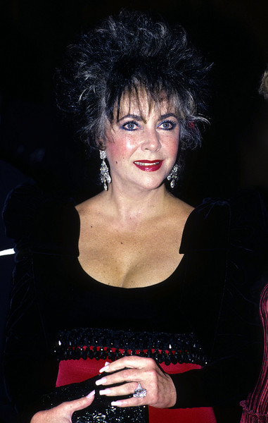 Elizabeth Taylor attending a Hollywood event