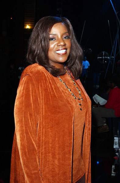 """Gloria Gaynor posing during rehearsals for the TV show """"The Disco Ball"""""""