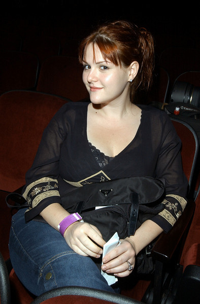 """Sara Rue posing during rehearsals for the TV show """"The Disco Ball"""""""