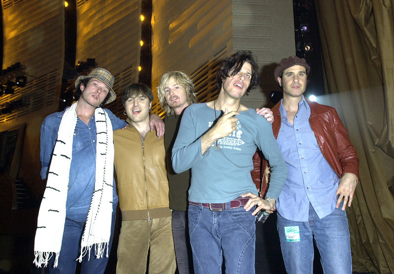 """Stone Temple Pilots backstage at the  Taping of """"Come Together - A Night of John Lennon"""" Taping"""