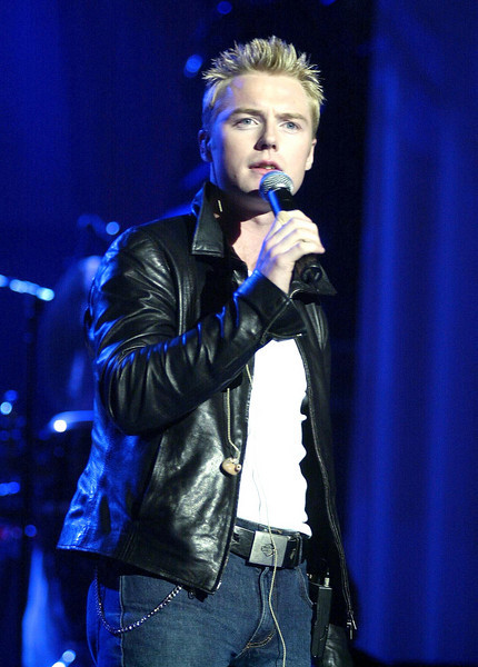 Ronan Keating rehearing for the Elton John: One Night Only -The Greatest Hits Live At Madison Square Garden