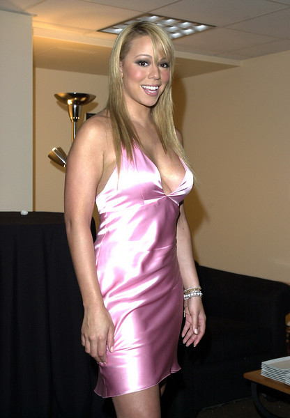 Mariah Carey backstage at Muhammad Ali's 60th birthday celebration.
