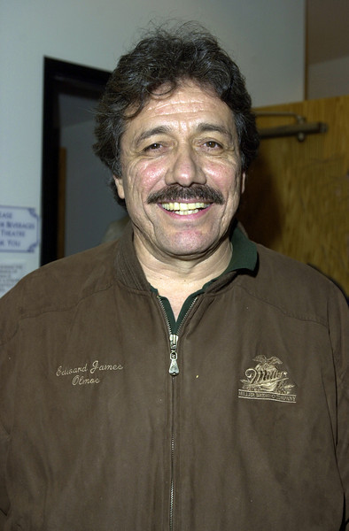 Edward James Olmos attending the opening of one of Ray Bradbury's plays.
